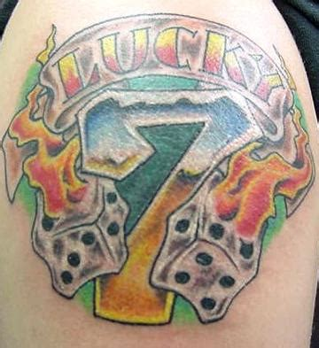 lucky 7 tattoo designs images designs
