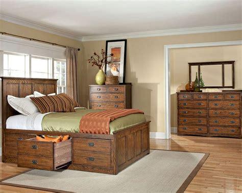 queen bedroom set with storage drawers intercon set w 3 drawer storage bed oak park in op br 5850 3set