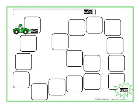 gameboard template board templates