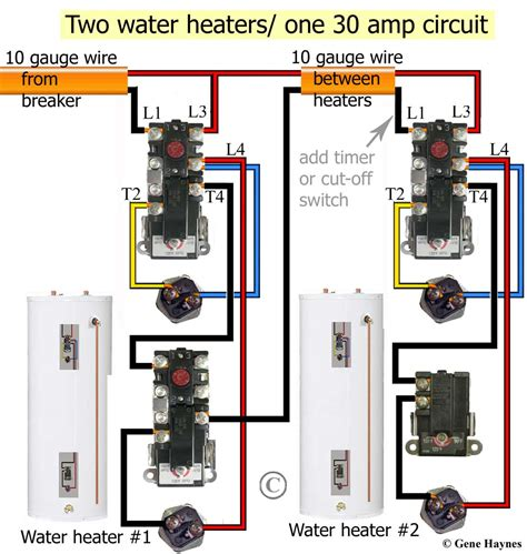 residential water heater thermostat wiring diagram