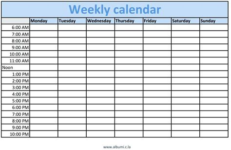 microsoft office weekly schedule template template microsoft weekly calendar template