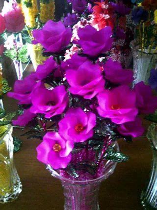 Bros Mawar Metalik Bunga Mawar Akrilik