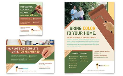 ad template painter painting contractor flyer ad template word