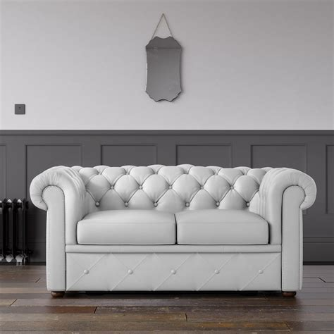 faux leather chesterfield sofa chesterfield faux leather sofa white endure fabrics