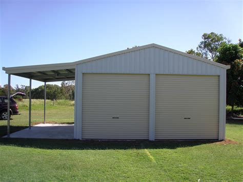 Awning Shed by Carports Fully Constructed Diy Kit Options Colorbond