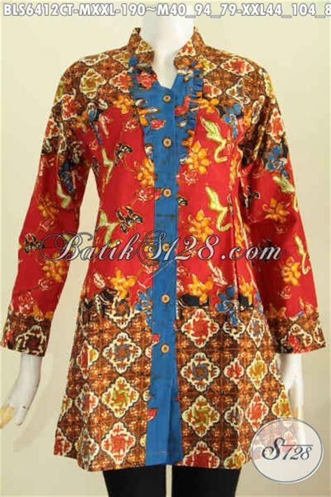 Sudah Bahagia Lengan Panjang sedia baju blus model terkini busana batik jawa tengah