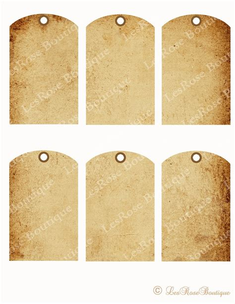 printable hang tags 6 best images of blank hang tags printable free