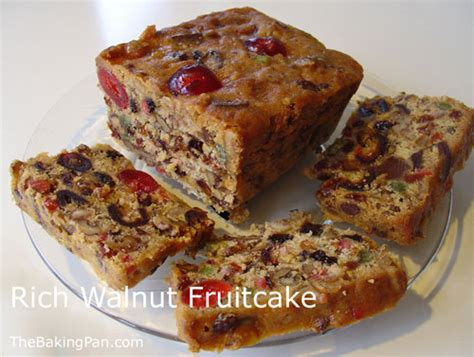 rich walnut fruitcake recipe thebakingpan com