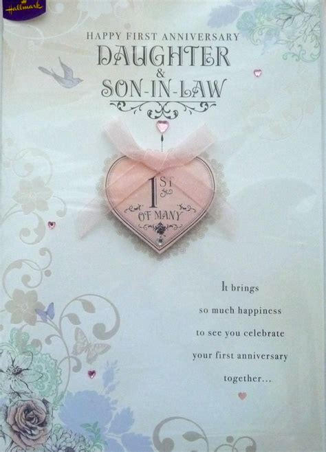 1st wedding anniversary wishes for son and daughter in law happy 1st wedding anniversary quotes for daughter quotesgram