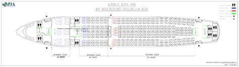 airbus a310 300 seating pia aircraft seat maps history of pia forum