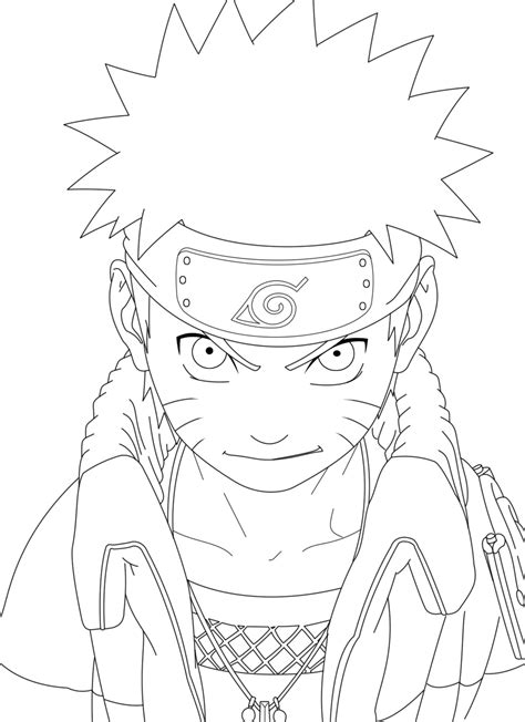 anime naruto coloring pages luiscachog me naruto lineart by crazylz on deviantart