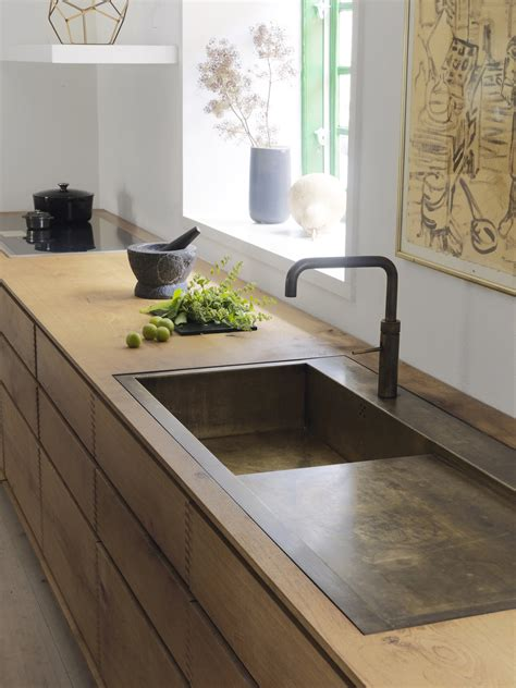 Wooden Kitchen Sink Model Dinesen Bespoke Wooden Kitchen With Browned Brass By Nordic