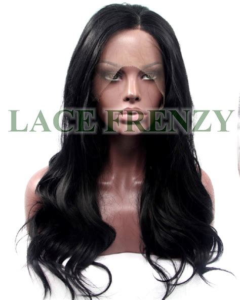 slight wave middle parting lace front synthetic wigs 12 arica loose wave w center part lace front wig lace