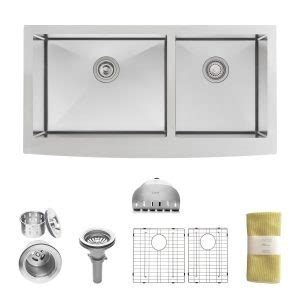 zuhne farmhouse sink installation top 10 best bowl stainless steel kitchen sinks in