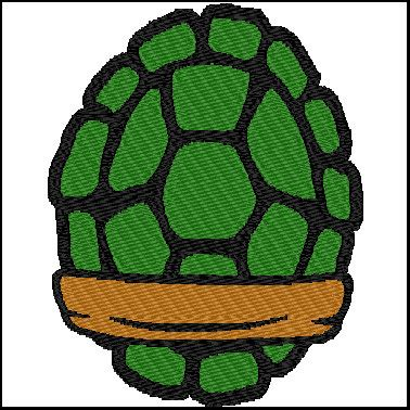 ninja turtle shells embroidery design for 6x10 hoop