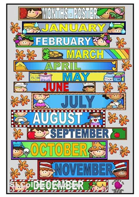 printable months poster months of the year printables it s a poster to teach the