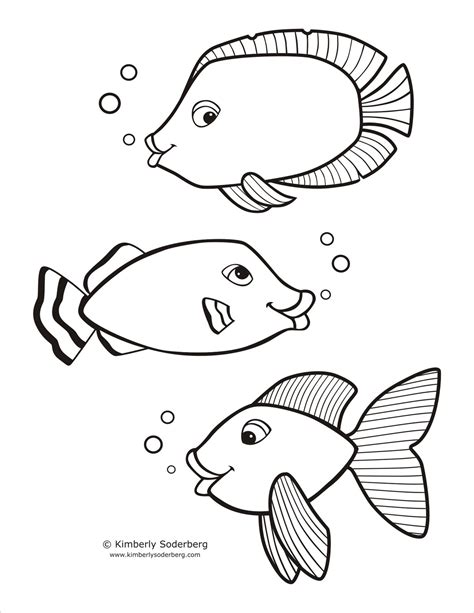 fish coloring template free fish template coloring pages