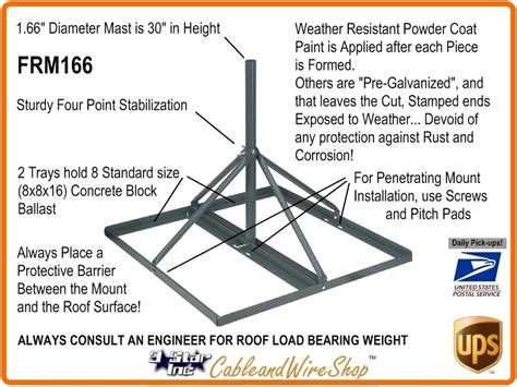 penetrating roof mount  mast   od  star incorporated