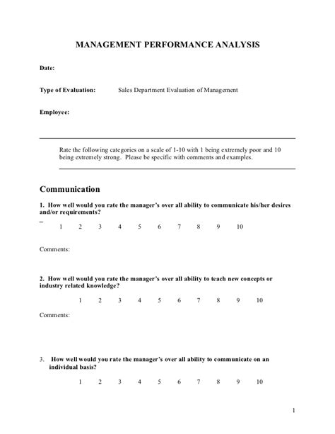7 sample sales appraisal forms free sample example format