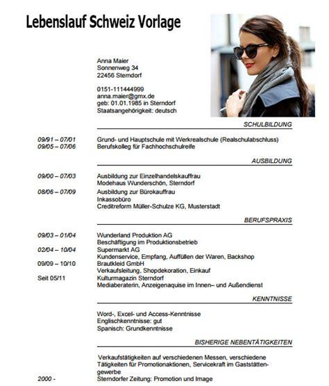 Lebenslauf Vorlage Schweiz Lebenslauf Schweiz Vorlage Dokument Blogs