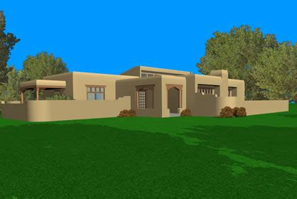 Adobe Style Home Plans by Adobe House Plans Architecturalhouseplans