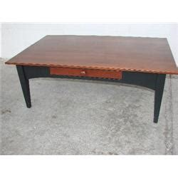 Ethan Allen Coffee Table With Drawers Ethan Allen Coffee Table With One Drawer J M Wood Auction Company Inc