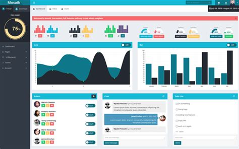 templates bootstrap responsive mosaik responsive admin template admin dashboards