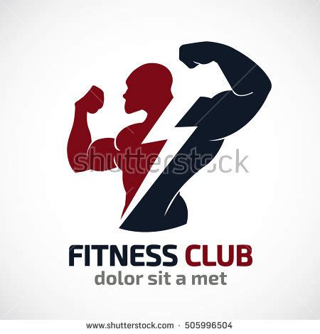 gym logo vector stock images royalty free images