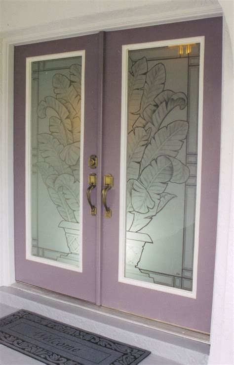 Etched Glass Exterior Doors Doors Etched Glass Etched Glass Design By Premier Etched Glass Studio Howard
