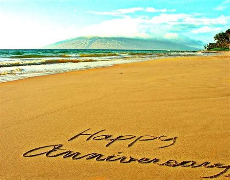 30th Wedding Anniversary Vacation Ideas by Writing In The Sand 5x7 Happy Anniversary Hawaii