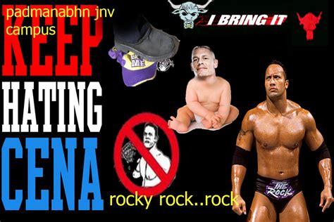dwayne johnson the rock vs john cena rock vs john cena dwayne quot the rock quot johnson photo