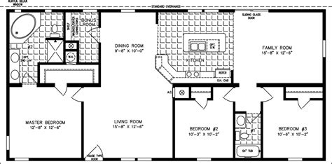 1400 Sq Ft by 1400 To 1599 Sq Ft Manufactured Home Floor Plans