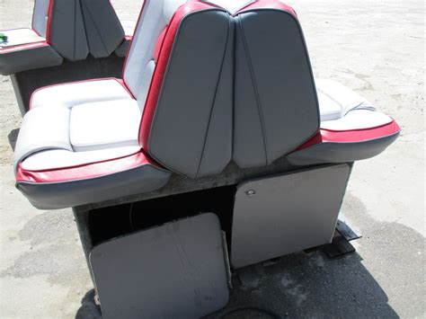 red boat seat covers 1989 four winns sun downer boat back to back seat base