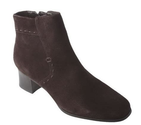 white mountain suede boots white mountain water repellent suede side zip ankle boots