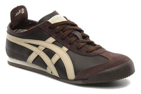 onitsuka tiger mexico 66 trainers in brown at sarenza co