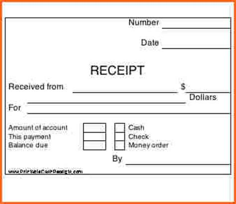 7 How To Print Receipts Budget Template Letter