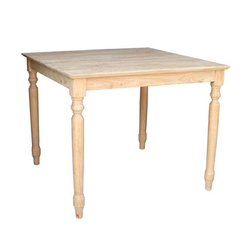 Unfinished Furniture Dining Table International Concepts Unfinished Dual Drop Leaf Dining