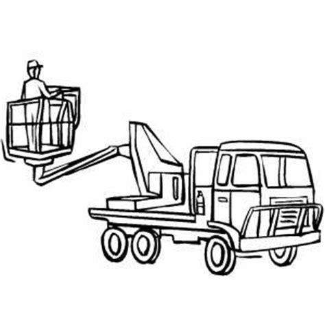 coloring pages bucket truck cherry picker coloring page
