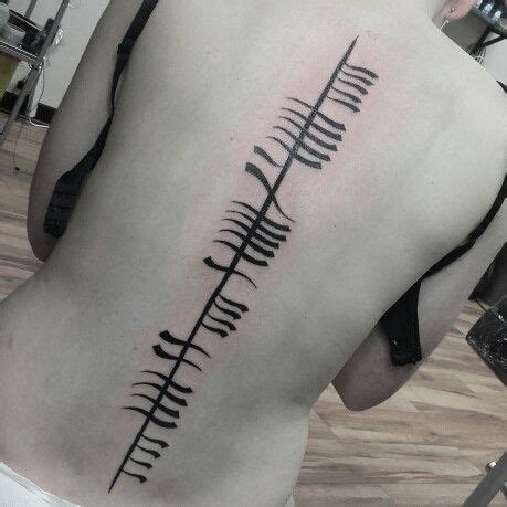 ogham tattoo best 25 ogham ideas on