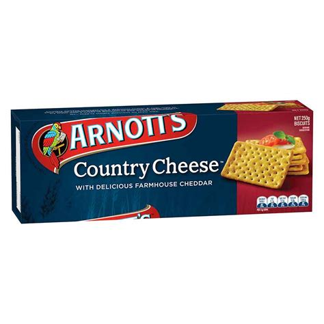 arnotts country cheese cracker 250g bisc5940 cos