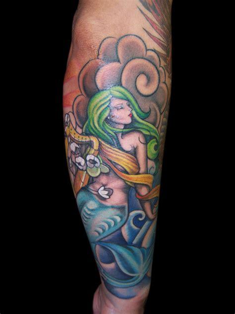 new school mermaid tattoo old school sailor jerry tattoos hot girls wallpaper