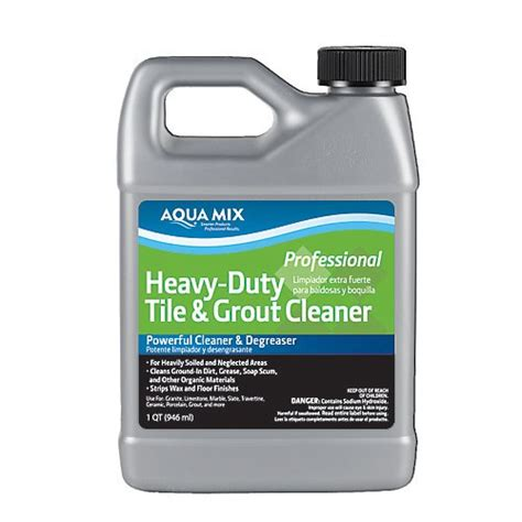 aqua mix heavy duty tile and grout cleaner quart 718704103827 toolfanatic com