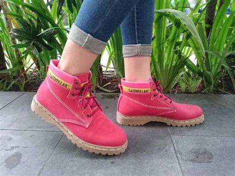 Sepatu Boot Wanita Caterpillar Pink harga sepatu kets wanita boot ankle caterpillar replika pink putih dan craem id priceaz