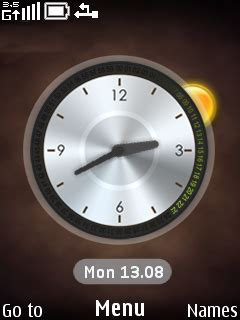 clock themes wap in download digilog clock nokia theme mobile toones