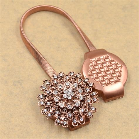 magnetic curtain clips retro crystal flower magnetic curtain tiebacks clips
