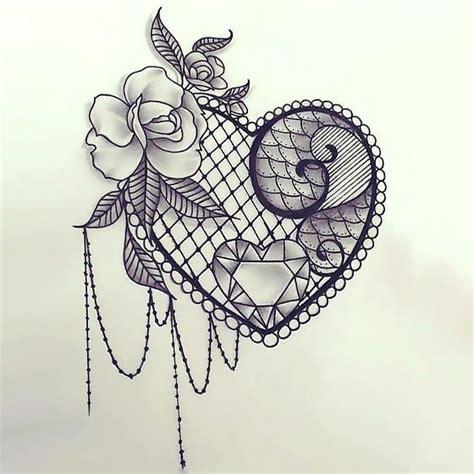 hot tattoo design lace design