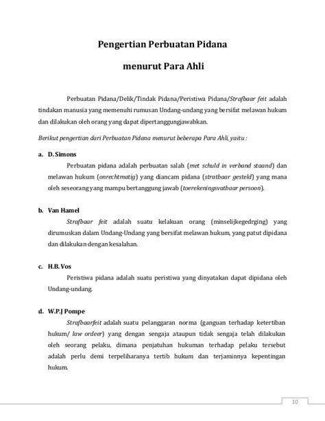 arti layout menurut para ahli asas asas hukum pidana pengertian perbuatan pidana