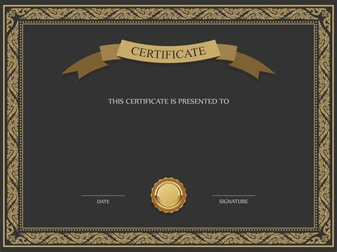 certificate design hd images black and brown certificate template png image смам