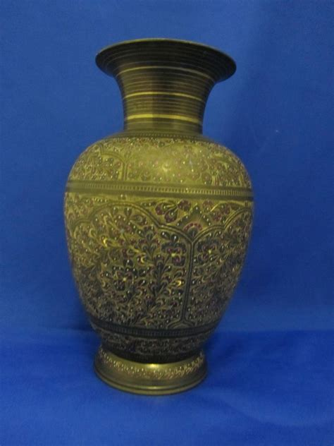 Brass Vase Value by Vintage Brass Indian Vase Now And Then Antiques