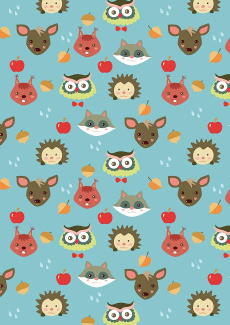 printable paper animals free printable autumn animals pattern paper free